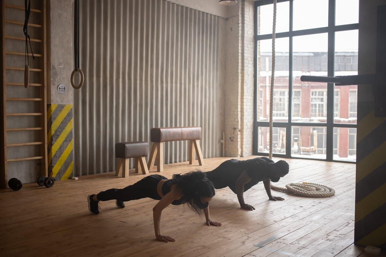 Fat-burning workouts - push ups