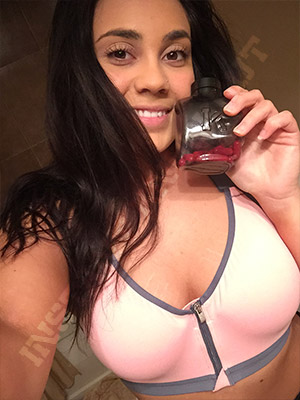 Sabrina with IKO bottle