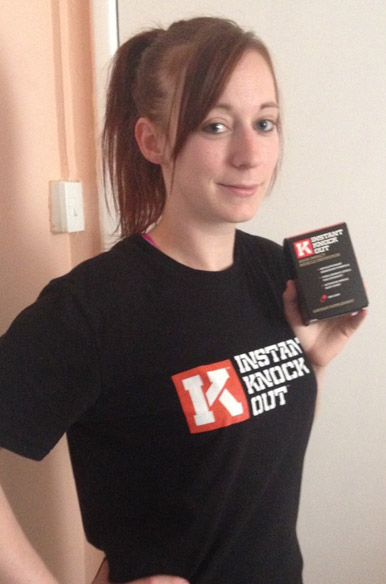 Katie with IKO bottle